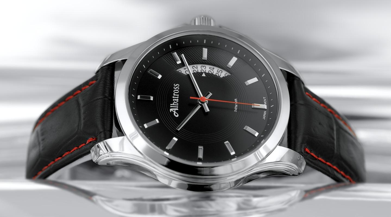 Купить мужские часы с черным ремешком