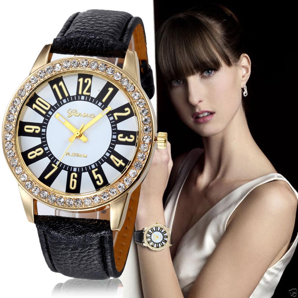 Часы черный ремешок