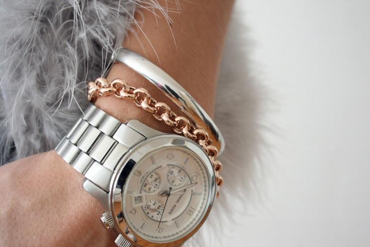 женские часы+браслет