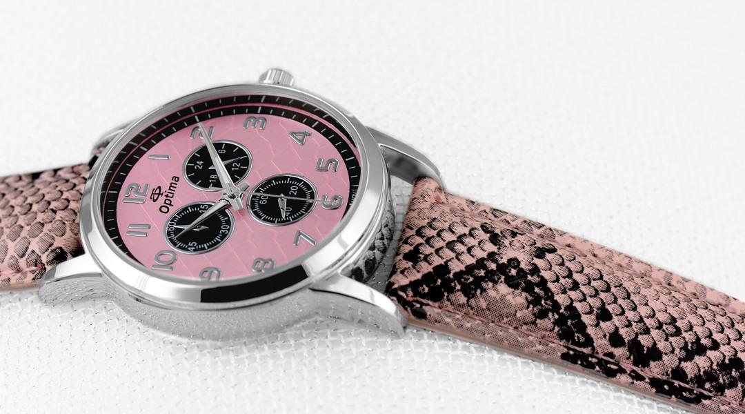 Часы с ремешком из рептилии