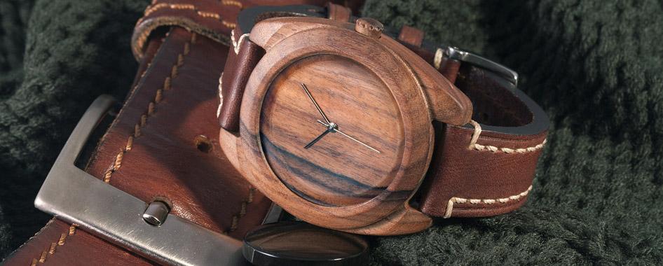 Деревянные часы наручные мужские